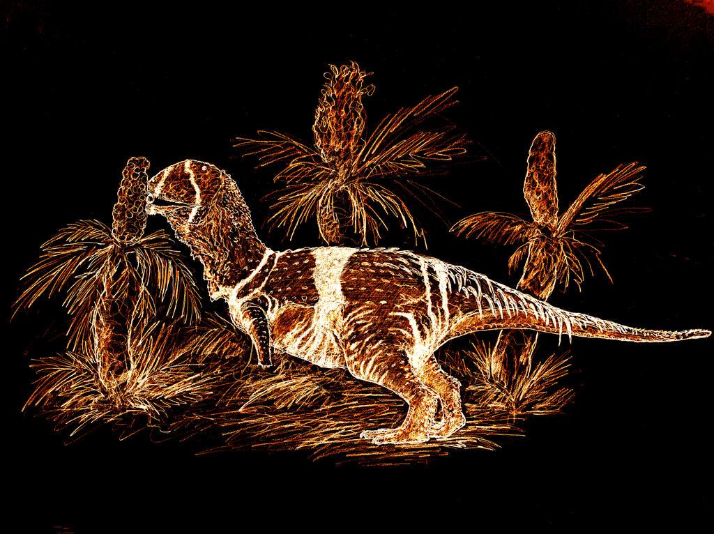 OmnivorousAbelisaurusdrkrlava by NashD1