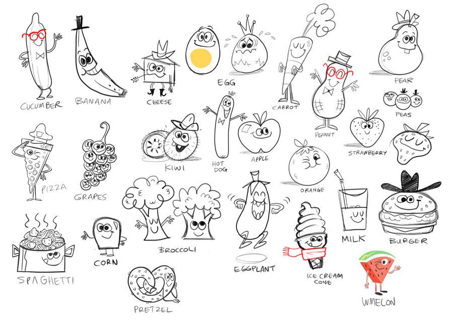 Wacky Food Gang Rough by riddsorensen