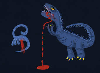 Dino Battle by riddsorensen