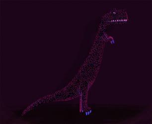 Purple Dino by riddsorensen