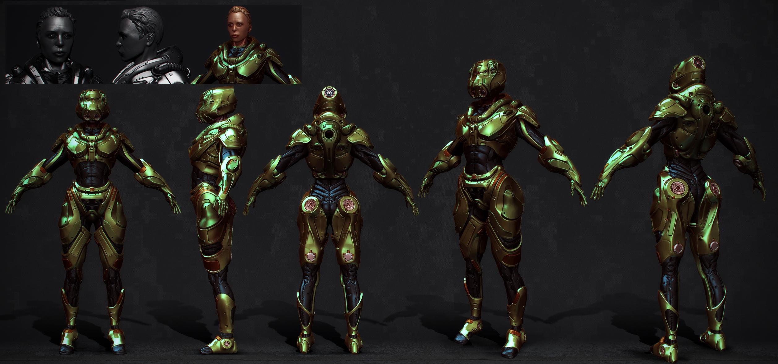 armored girl by Crashmgn