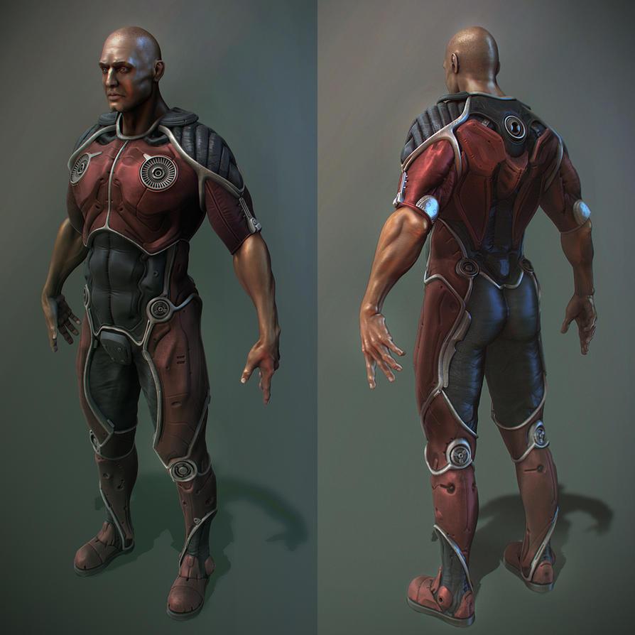 hi-tech suit by Crashmgn