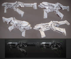 SMG clay render by Crashmgn