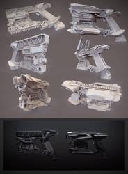 Heavy pistol clay render