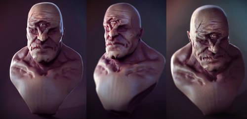 Cyclops bust by Crashmgn