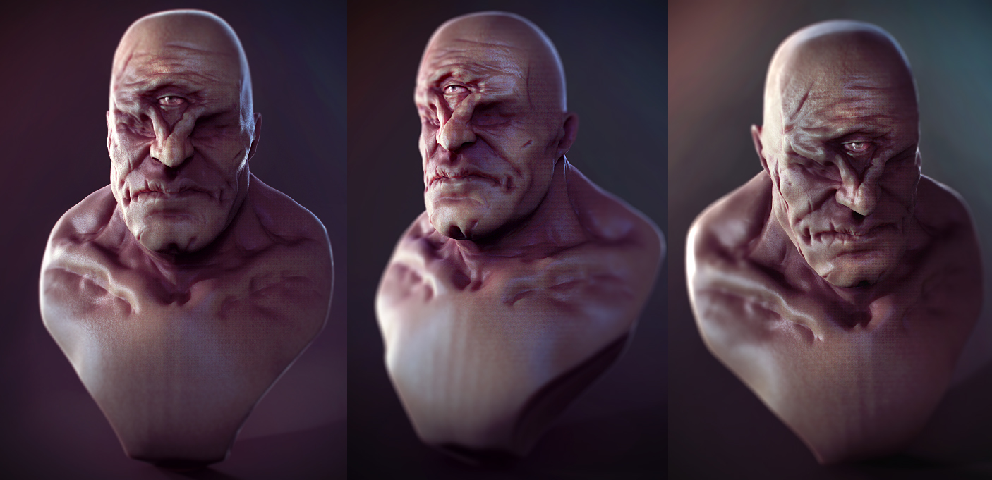 Cyclops bust by Crashmgn