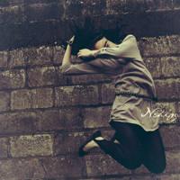 la pared, el viento y ella. by vachi-bumbernickle