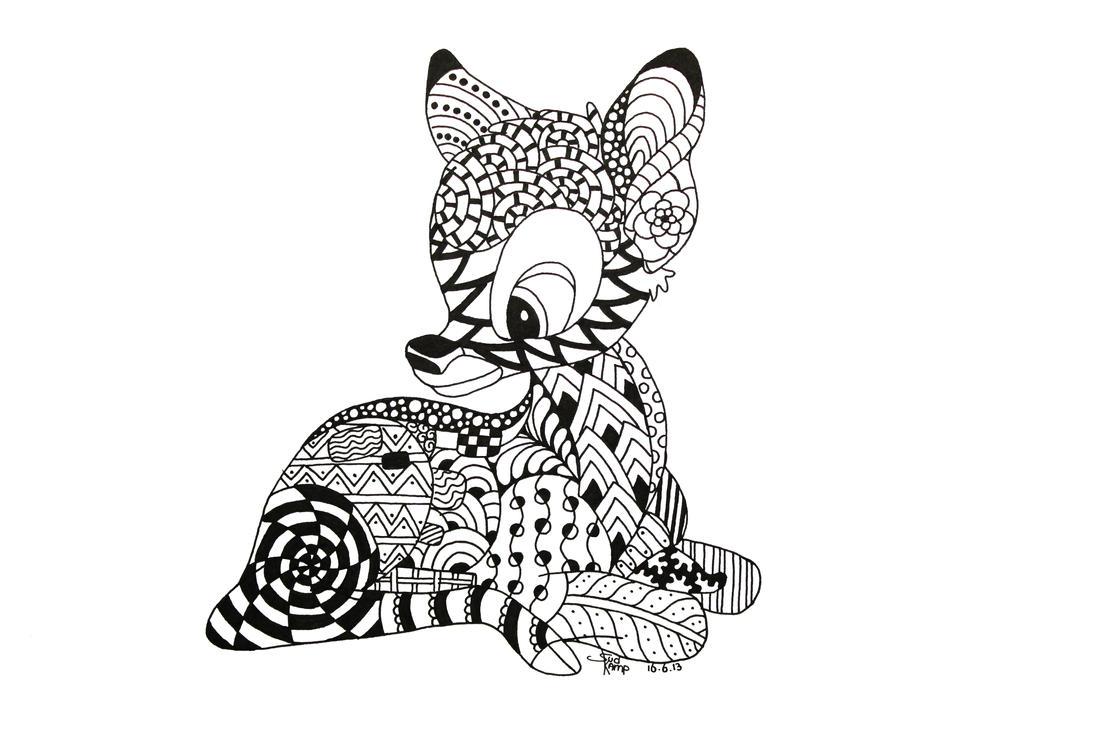 Bambi Zentangle By NeverDoubtILove On DeviantArt
