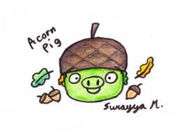 Acorn Pig by SierraStorms