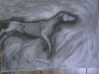 dead dog by jazzshewolf