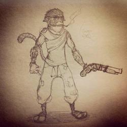 Monkey Shotgun by leloupdeshonan