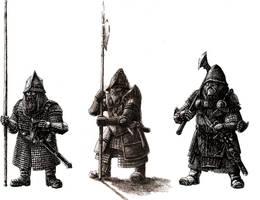 Dwarven infantry by Tulikoura