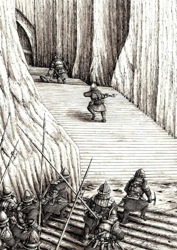 Dain chases Azog by Tulikoura