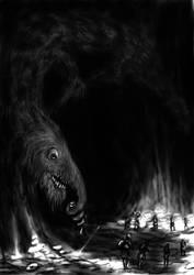 Speedpainting - Forgotten Beast Ufsmat by Tulikoura