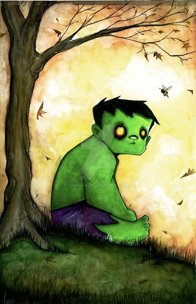 Sad Hulk by UMINGA