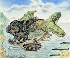 Sleeping Fisherman by RezoKaishauri