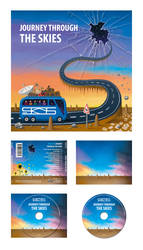 Journey Through the Skies - Cover, Back + CD by RezoKaishauri