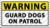 Warning Sign Stamp by KillboxGraphics