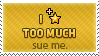 Sue me by KillboxGraphics