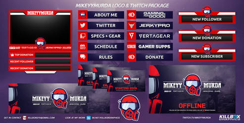MikeyyMurda Twitch Package by KillboxGraphics