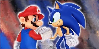 Sonic vS Mario by CajunFX