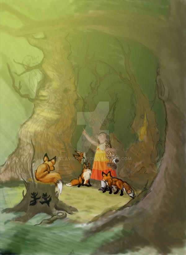 Fox Grove by SlavicWolf