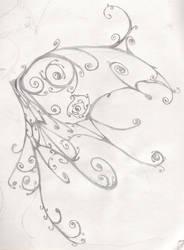butterfly wing by SlavicWolf