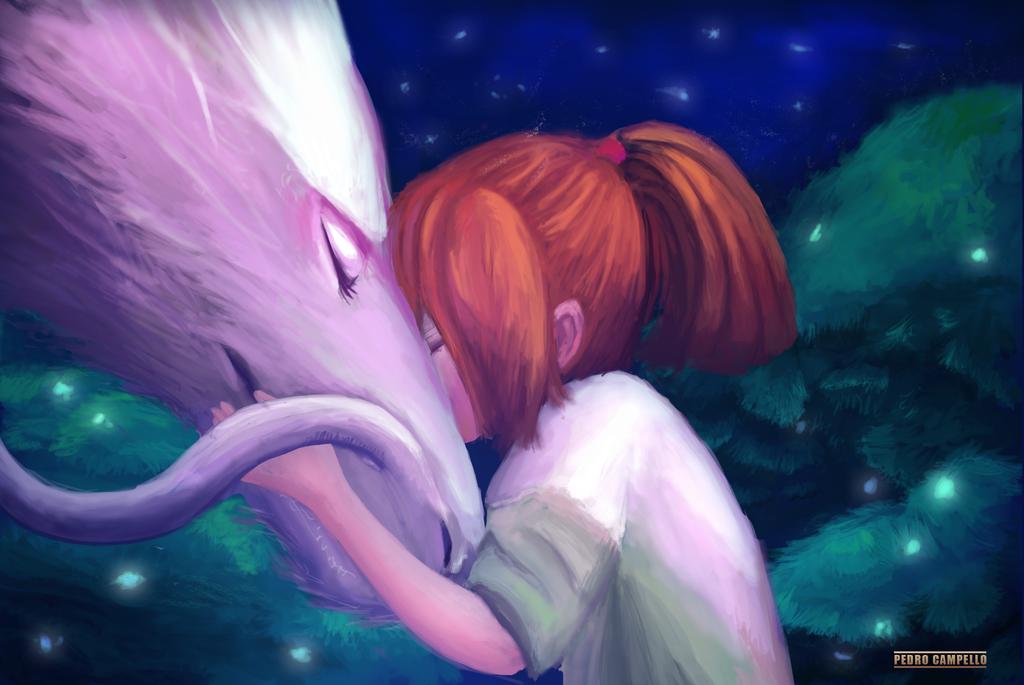 Chihiro and Haku by PedroCampello