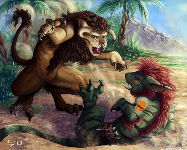 Dueling Druids by Nezumi46