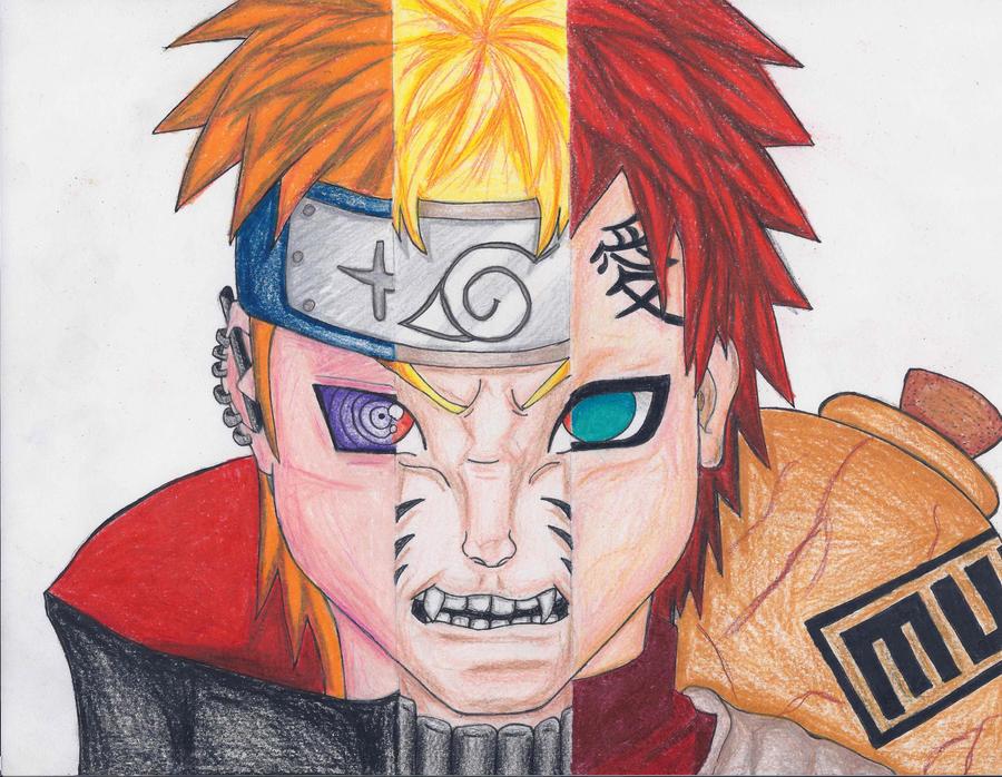 Pain-Naruto-Gaara by PyroRaveHeart71