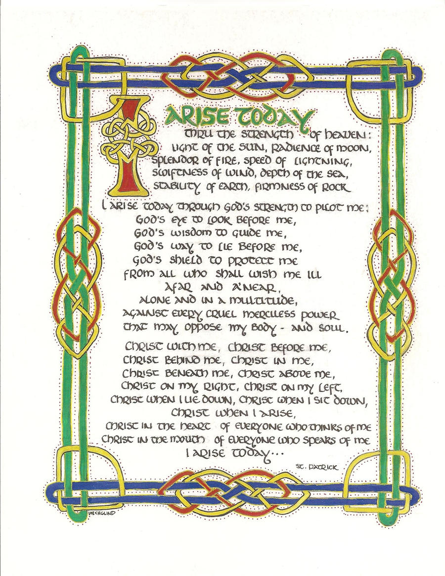 Prayer of St. Patrick by feral-canary on DeviantArt
