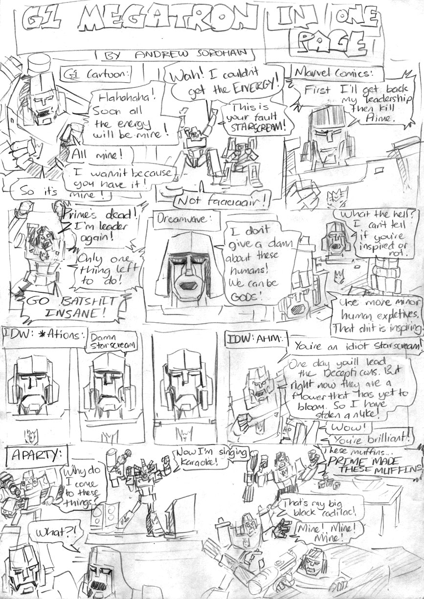 G1 Megatron In One Page