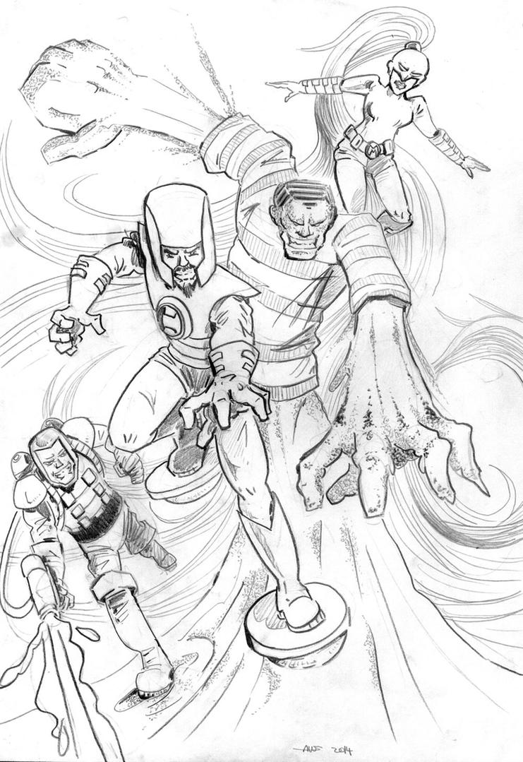 The Frightful Four by Boltax