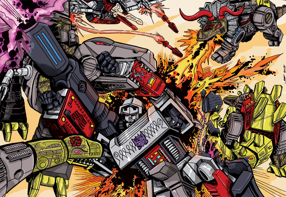 Megatron vs. The DInobots
