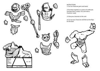 Skeletor MOTU Buck -- Printable Page