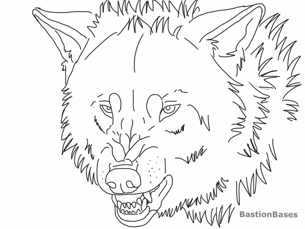 Lineart Wolf Tattoo : Free snarling wolf lineart by bastionbases on deviantart