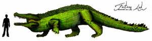Deinosuchus  hatcheri Scale