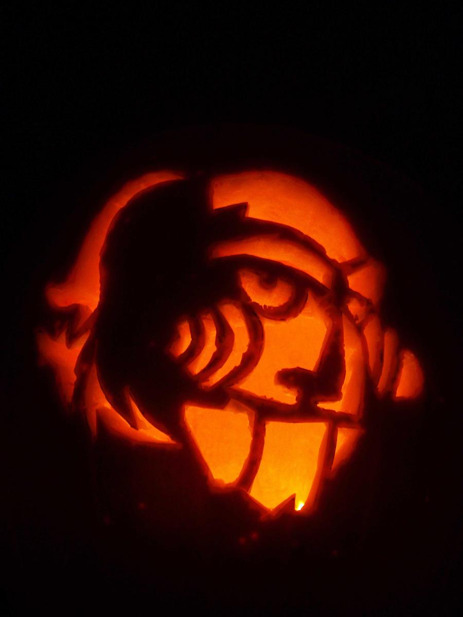 Saw pumpkin by parasoph on deviantart