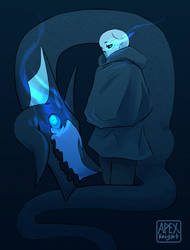 Gaster and Valtiel by APEX-Knight