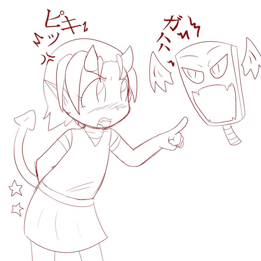 Lil' Doruki and her 'Pet' by Okamiseinen