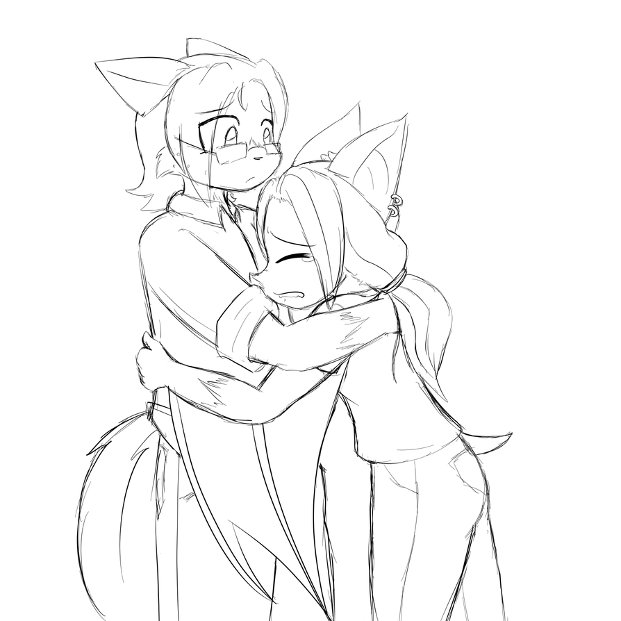 Bat Hugs by Okamiseinen
