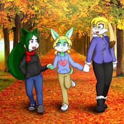 Familytime in Autumn by Okamiseinen