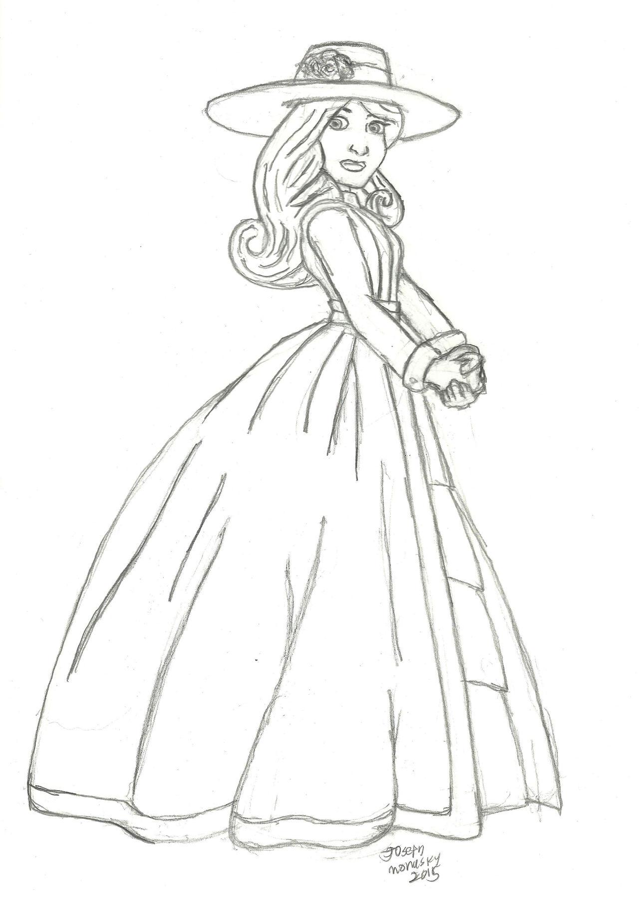 Lady Sketch by RedJoey1992