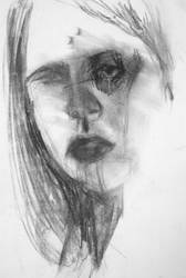 Charcoal Self Portrait 2 by dearlithium