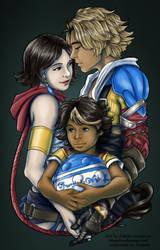 Tidus, Yuna, and Sozas by Jessami