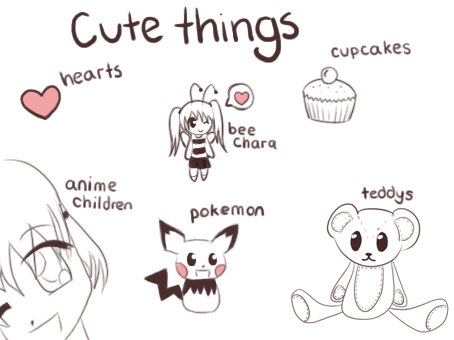 Cute things by budbud225 on deviantart for Cute but easy things to draw