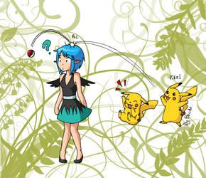 Citro et Pikachu by Boudathecat