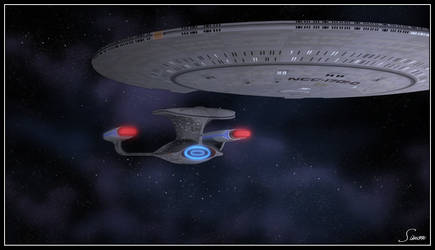 Saucer Seperation by celticarchie