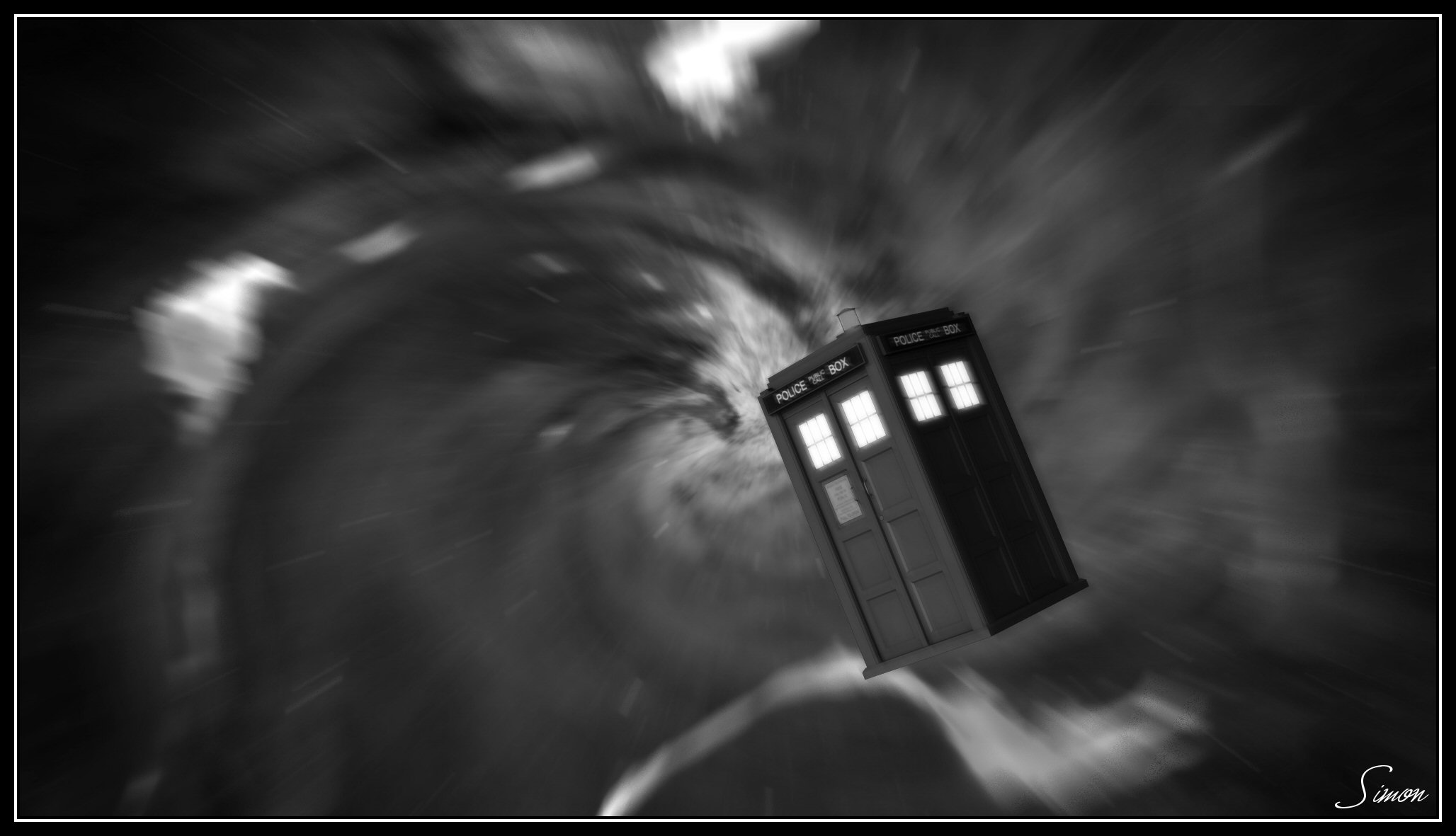 All Of Time And Space BW by celticarchie
