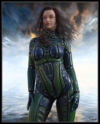 Bethany - Curvy In A Space Suit by celticarchie